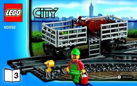 Lego City Cattle Wagon only from 60052 Cargo Train set