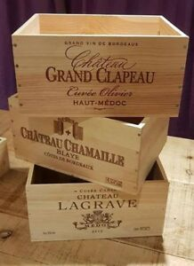 Details About 3 Pack French Wooden Wine Crate Boxes Work Christmas Hamper Gift Box Present