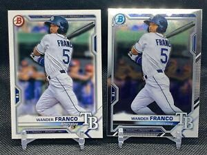 Wander Franco 2021 Bowman Chrome & Paper 🔥 Rookie Year Rays #1 Prospect 🔥