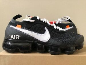 sports shoes 0c649 d20ea Image is loading Nike-Air-Vapormax-Flyknit-x-OFF-WHITE-Black-