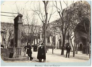 Espagne-Barcelona-Patio-del-Hospital-Vintage-albumen-print-Tirage-albumine