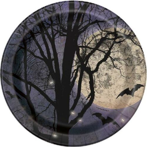 Plates Table cover Spooky Night Halloween Party Decorations