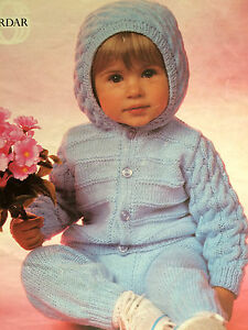 7ef4c7814 Baby Knitting Pattern Copy HOODED Jacket   Pants in 8 Ply