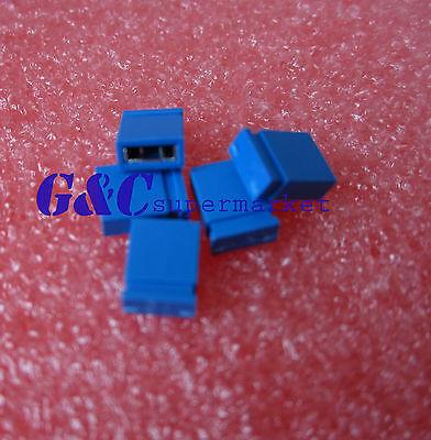 100Pcs Blue 2.54mm Jumper Cap mini Jumper Short Circuit Cap Connection Closed