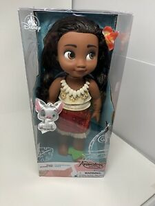 Disney-Animators-Collection-15-034-Toddler-Doll-Moana-with-Plush-Pua-Pet-A1D-DMG