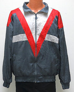 vtg-Adidas-GRAY-RED-V-STRIPE-Windbreaker-XL-80s-90s-Track-Jacket-charcoal-warmup