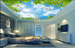 3D Sunlight Bird Sky Ceiling WallPaper Murals Wall Print Decal AJ WALLPAPER US