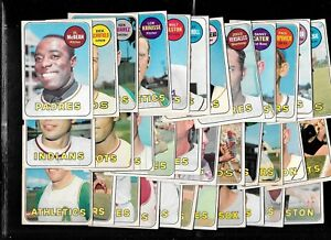 1969-OPC-O-PEE-CHEE-TOPPS-MLB-BASEBALL-CARD-1-218-amp-DECKLE-EDGE-SEE-LIST