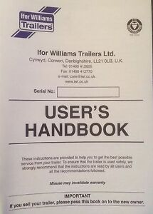 ifor williams trailer handbook instructions registration service rh ebay co uk Ifor Williams Trailer 510 Ifor Williams Trailer 510