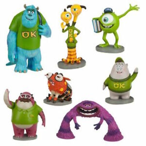 NEW Disney 7 piece Monsters University Figure play set/cake toppers Sulley Mike