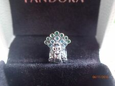Authentic Pandora Charm New w/tags   Peacock 791227MCZ