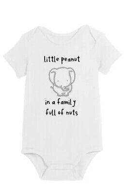 Elephant White 0m To 18m Little Peanut Gerber Short Sleeve Onesie