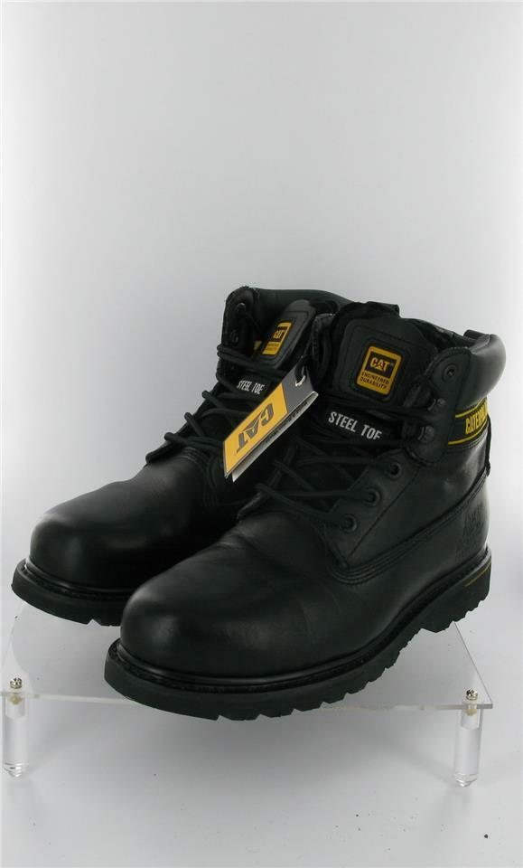 CATERPILLAR BOOTS STEEL TOE CAP SIZE 9 UK OIL RESISTANT CAT SLIP