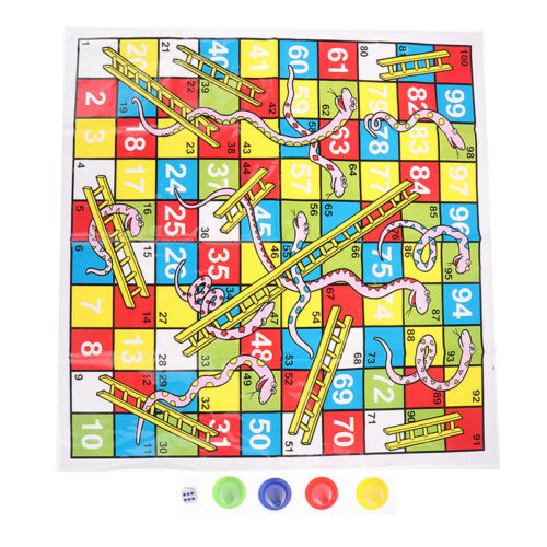 Snake Ladder Educational Kids Children Toys Family Interesting Board Game gif TD