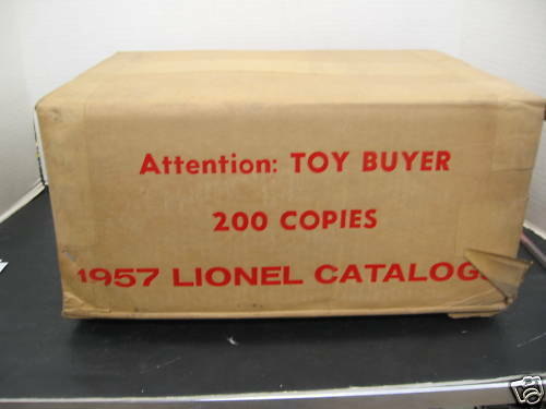 Factory Sealed Case of 200 Original 1957 Lionel Catalogs