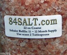 12 Refills Himalayan Pink Crystal Salt Inhaler Asthma COPD Allergies seen on TV