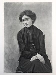 Max-Liebermann-Original-1903-Heliogravure-034-Bildnis-Fraulein-Hedwig-Ruetz-034