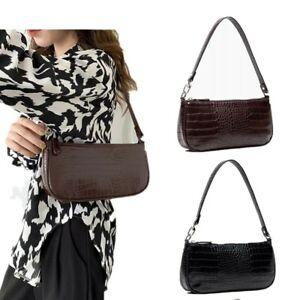 Women Casual 90s Vintage Mini Shoulder Bag Leopard Small Purse Handbag Chain