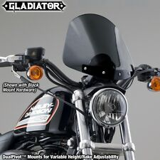 Harley FXDWG Dyna Wide Glide '06-'08 Gladiator Windshield | Dark Tint/Chrome