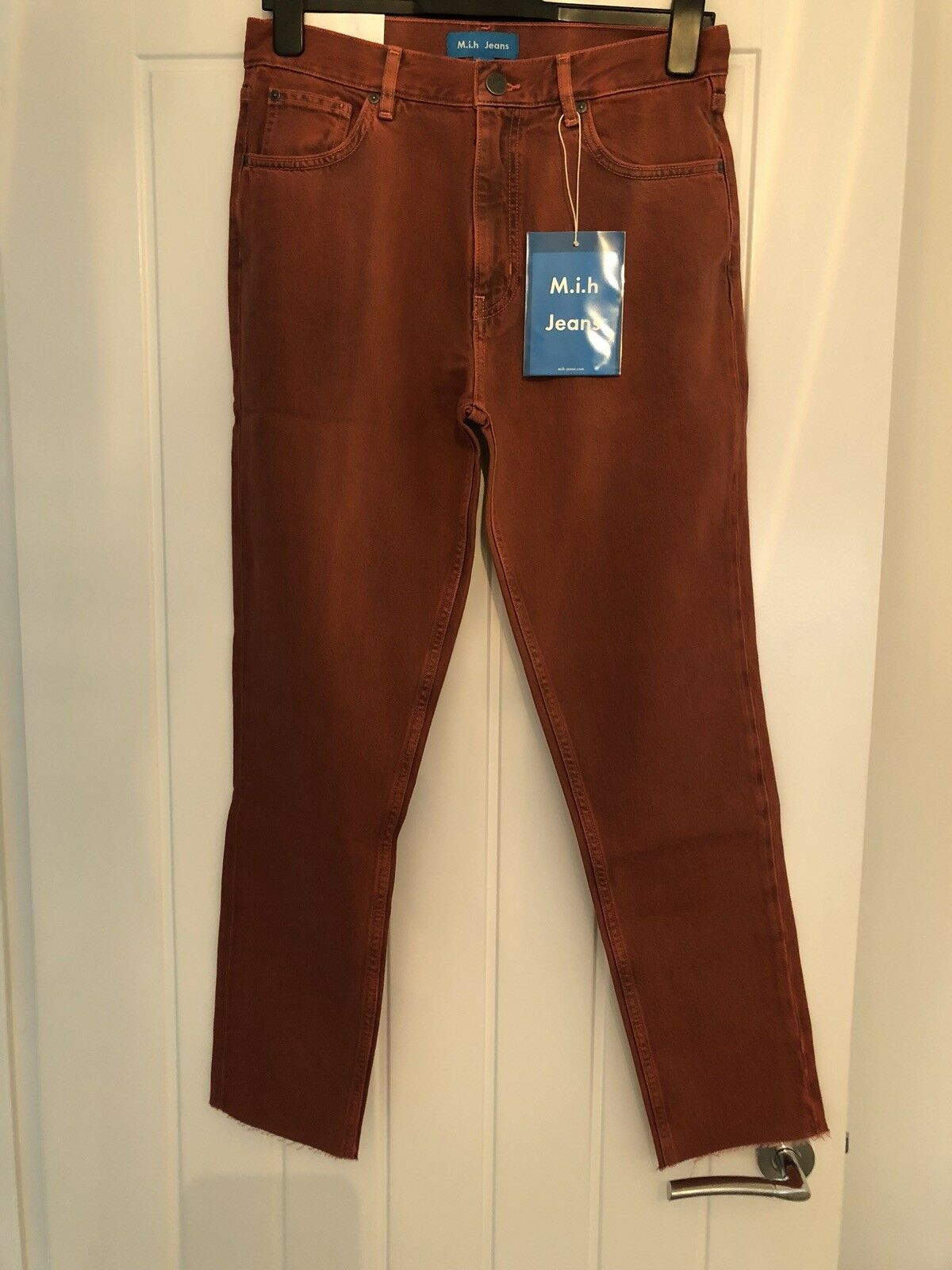 M.i.h Mimi Jeans-High Rise Vintage Slim- Size 26-Red Copper BNWT