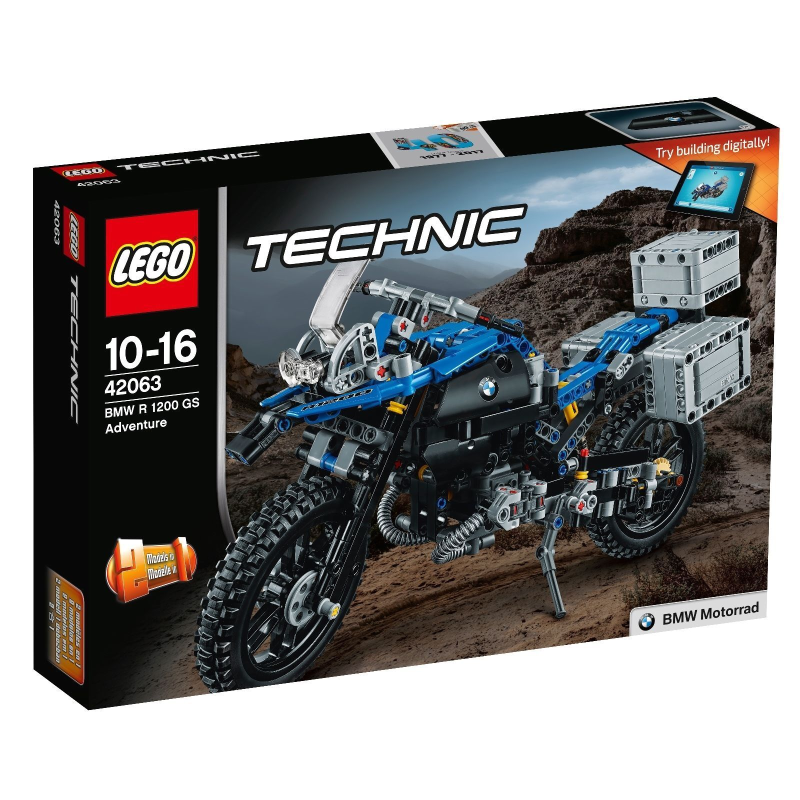 LEGO ® Technic 42063 BMW R 1200 GS Adventure Nuovo OVP NEW MISB NRFB