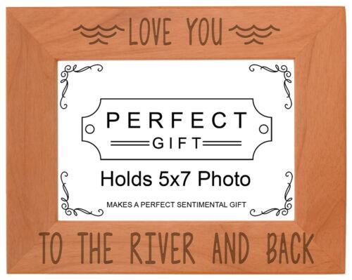 River Frame Love You to The River Back Engraved Natural Wood Frame