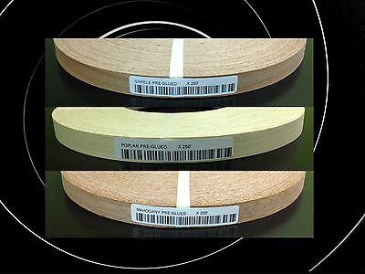 """Mahogany Pre Glued 13//16/""""x250/' Wood Veneer edgebanding"""
