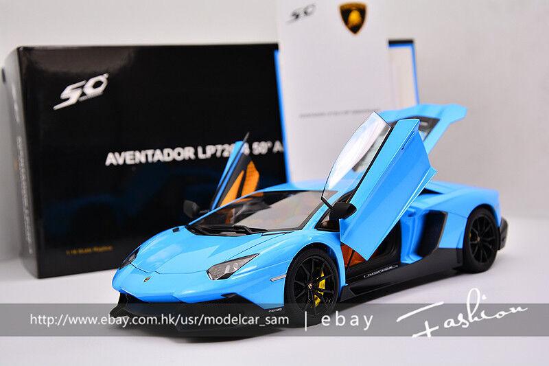 Autoart 1 18 Lamborghini Aventador LP720-4 50th blu