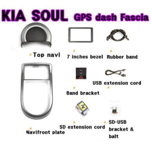 """KSPEED Fits: Kia 12 Soul GDI 7/"""" GPS dash Fascia integrated 8p"""