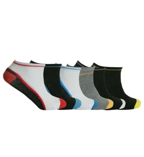 Da Uomo Trainer Liner Calzini Alla Caviglia Funky Designs Adulti 6 /& 12 paia Sport UK 6-11