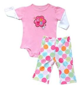 Carter-s-2-pc-Bodysuit-amp-Pull-On-Pants-Set-Baby-Girl-Clothes-Cute-6-months