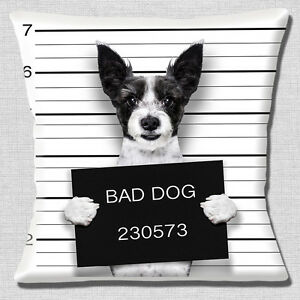 FUNNY-BLACK-WHITE-ROUGH-COAT-JACK-RUSSELL-BAD-DOG-PHOTO-16-034-Pillow ...