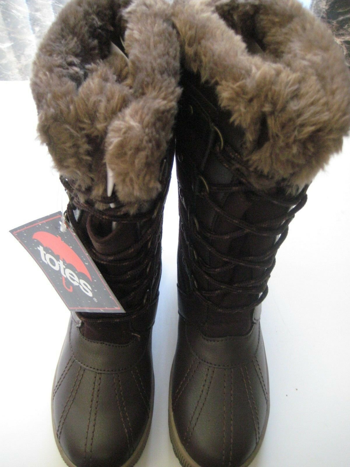 Totes GEMMA WOMEN'S WINTER BOOTS SIZE 6 MED BROWN
