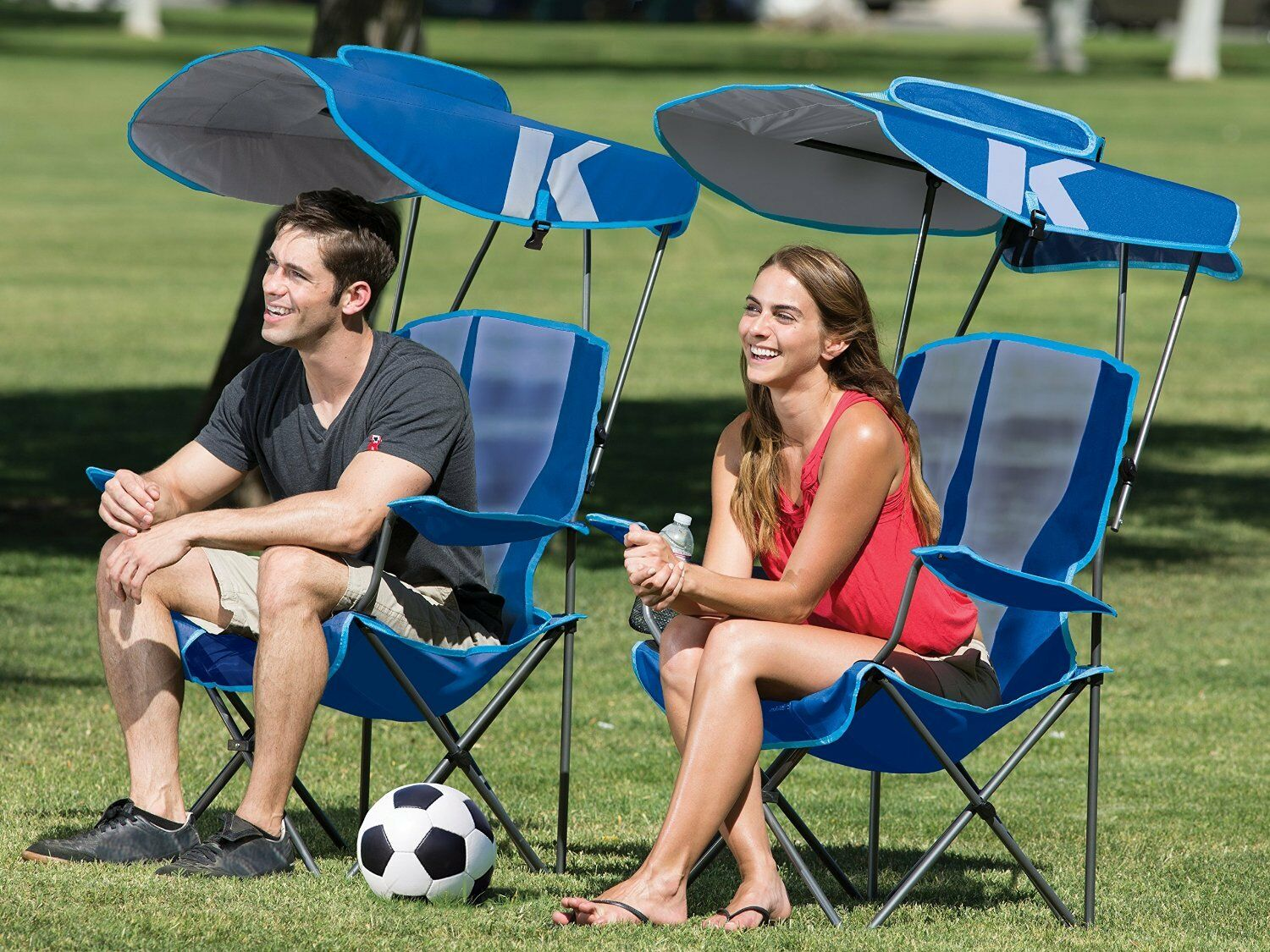 Folding Lawn Chair with Canopy...
