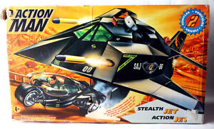 very rare vintage 1996 action man stealth jet turbo moto hasbro ebay. Black Bedroom Furniture Sets. Home Design Ideas