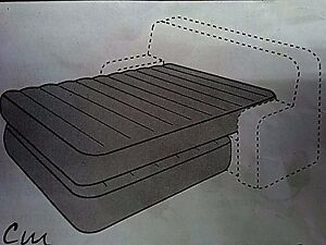 BLOW UP BED COUCH KIT 60 x 80 QUEEN PVC RV CAMPER