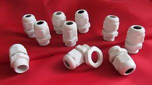 10 Stück Kabelverschraubung mit Gegenmutter PG-7