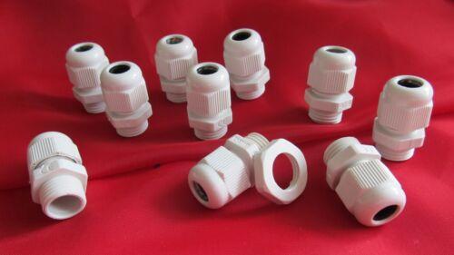 100 Stück Kabelverschraubung mit Gegenmutter PG-13,5