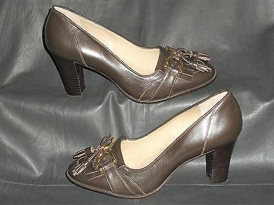 Capable Talbots Womens Brown Smooth Leather Casual Kiltie Tassel Loafer Pump Size 61/2b Structural Disabilities Women's Shoes Clothing, Shoes & Accessories