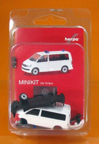 Herpa 012904 MINIKIT VOLKSWAGEN VW t6 BUS BIANCO 1 87 NUOVO OVP