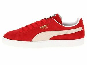 Details about PUMA SUEDE CLASSIC Red White Men's Casual Sneakers 352634-65