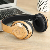 BT-09 Bluetooth Headphones Wireless Stereo Mic Headsets Support TF Card FM Radio