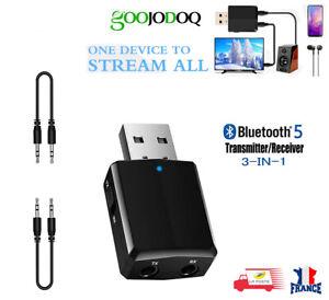 Bluetooth-sans-fil-Audio-Recepteur-Emetteur-USB-adaptateur-EDR-3-en-1-AUX-3-5mm