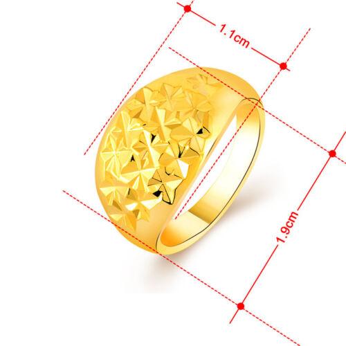Accessoires de Mode 24K plaqué or Babysbreath Women Jewelry Ring GR053
