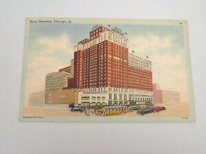 J1119-Postcard-Hotel-Sherman-Chicago-IL-Illinois