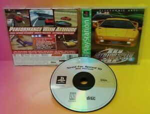 Need-For-Speed-III-Sony-PlayStation-1-PS1-CIB-Complete-1-Owner-Near-Mint-Disc