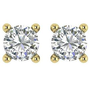 0-70-Ct-Round-Cut-Diamond-Solitaire-Studs-Earrings-14Kt-Solid-Yellow-Gold-4-40mm
