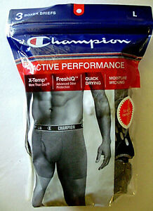 Champion  Elite Active Fit Vapor Technology With X-Temp Boxer Briefs 4-Pack