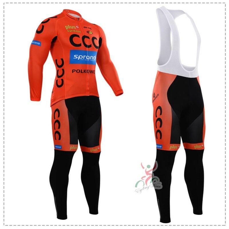 KJS548 Mountain Dh Cycling Winter Thermal Fleece long sleeve jersey Bib Pants Ki