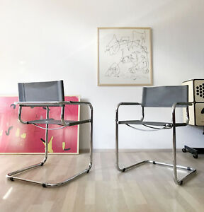 Image Is Loading 1of4 VINTAGE MODERNIST 80s 90s CANTILEVER CHAIR LEATHER